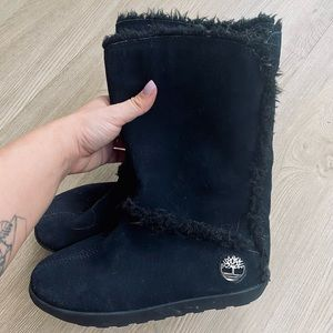 Timberland MukLuk Black Suede Pull on Winter Boots